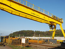Process Crane at a loading facility in a steel mill